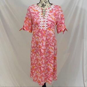 Lilly Pulitzer Pink & Orange 1/2 Sleeve Size 6